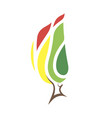 burning forest icon vector image vector image