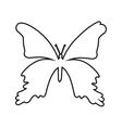 butterfly silhouette isolated icon design vector image