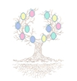 candy colors genealogical branchy tree vector image
