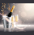 champagne holiday realistic background vector image