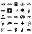 charge icons set simple style vector image vector image