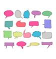 chat bubble doodle colorful drawing element set vector image