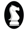 chess knight figure on white background vector image vector image