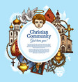 christian religious community symbols vector image
