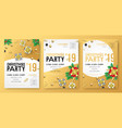 christmas party invitation gifts posters vector image vector image
