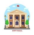 city hall architecture facade building exterior vector image vector image
