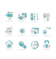 computer and website icons vector image vector image