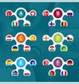 creative european football 2020 tournament final vector image vector image