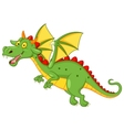Cute dragon cartoon flying vector image vector image