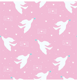 dove and letter pink vector image vector image