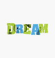 dream concept colorful stamped word vector image vector image