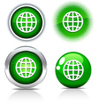 Earth buttons vector image vector image