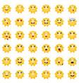 emoticons sun vector image vector image