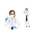 female doctor character vector image vector image