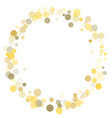 golden dot confetti on white background vector image