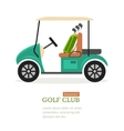 Golf Club Symbol Banner vector image vector image