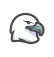 graceful eagle head icon cartoon vector image vector image