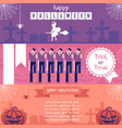 halloween horizontal banners set with traditional vector image