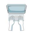 hand programming work computer keyboard vector image
