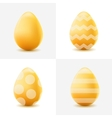 Happy Easter set with colored eggs vector image vector image