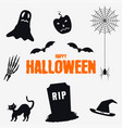 happy halloween - decorations elements set vector image vector image