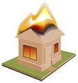 House is on fire Need for insurance vector image vector image