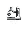 industrial robot icon vector image