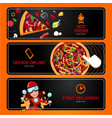 italian pizza online order and delivery vector image vector image