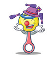 juggling rattle toy mascot cartoon vector image