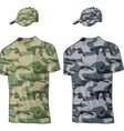 Military Shirts and caps templates vector image vector image
