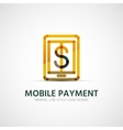 Mobile payment company logo business concept vector image
