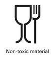 non toxic plastic material icon simple style vector image vector image