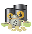 oil and cash vector image vector image
