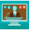 online conference vector image