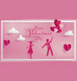 paper art concept of valentine vector image vector image