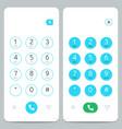 phone keypad smartphone screen keyboard vector image vector image