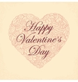 Postcard for day Saint Valentine vector image vector image