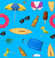 realistic detailed 3d summer holidays concept vector image vector image