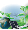 realistic eco energy template vector image vector image