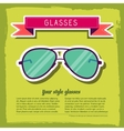 retro glasses background concept vector image vector image