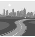 Road and City background vector image vector image