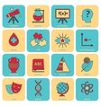 Science areas icons flat line vector image