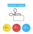 scissors cuts discounts coupon vector image vector image