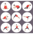 Set of 9 Yoga poses for Pregnant women vector image vector image