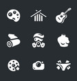 set of art icons vector image vector image