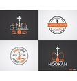 Set of Hookah relax labels badges and design vector image vector image