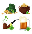 set of st patrick s day symbols vector image vector image