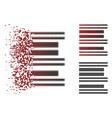 shredded dot halftone barcode icon vector image