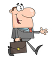smiled businessman walking vector image vector image