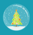 snow globe with christmas vector image vector image